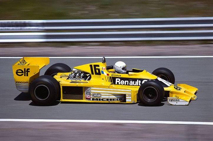 Jean Pierre Jabouille, penando en ese entonces, durante el desarrollo del turbo en el Renault RS01 de 1977