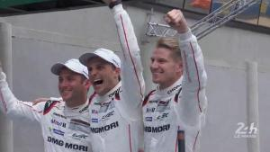 Hulkenberg, Tandy, Bamber Le Mans 2015
