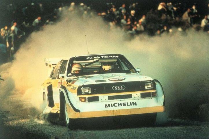 En 1985 Walter Röhrl fue el ganador del Rally Sanremo con el Audi Sport Quattro S1